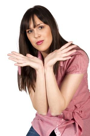 Beauty female isolated on white background Stock Photo - 18294353