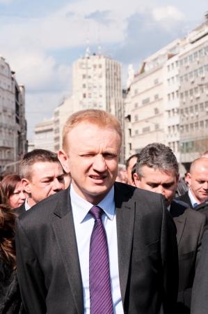 10 to 12 years:  BELGRADE, SERBIA - MARCH 12 Dragan Djilas,Mayor of Belgrade, walk in honor of 10 years since the death of Serbian Prime Minister Zoran Djindjic on March 12, 2013 in Belgrade, Serbia. Editorial