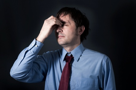 Businessman with the stress Stock Photo - 18495644