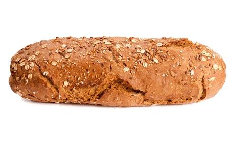 Dark bread isolated on white background 免版税图像 - 103152428