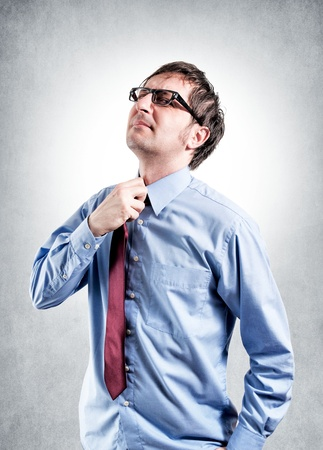 aussi: Tired businessman cravate avec starter Banque d'images