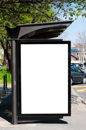 Blank space on bus station for your ads Zdjęcie Seryjne