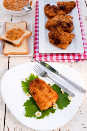 Fried catfish on the plate Stock Photo - 19577094