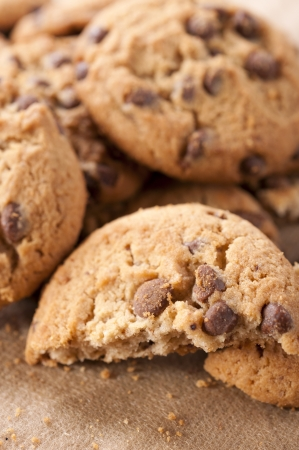 loe: Homemade sweet chocolate biscuit close up Stock Photo