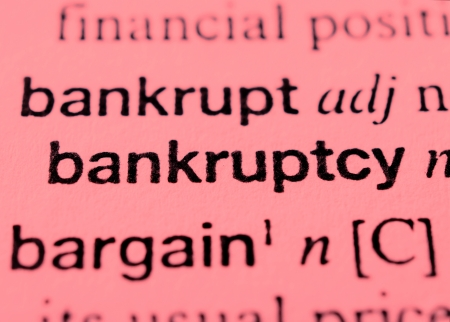 Dictionary entry for bankruptcy photo
