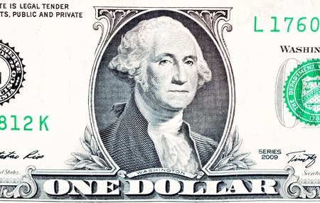 Close up to one dollar bill photo