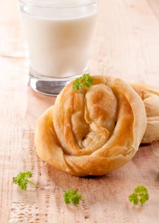 serbian: Balkan traditional cheese pie with yogurt