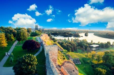Gezicht op Nieuw-Belgrado van Kalemegdan