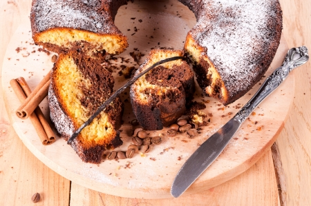 Sweet dry cake with vanilla and coffee  photo