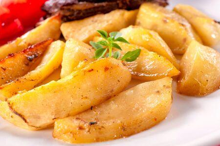 prepared potato: Prepared potato on Serbian traditional way