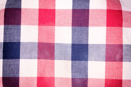 Red, blue and white table cloth texture photo