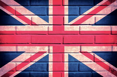 Flag of United Kingdom on the old brick wall Stock Photo - 21163572