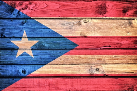 Cuban flag on the old wooden background Stock Photo - 21163581