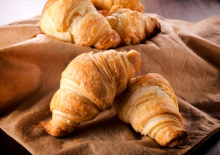 bread shop: Fresh and small traditional French croissants