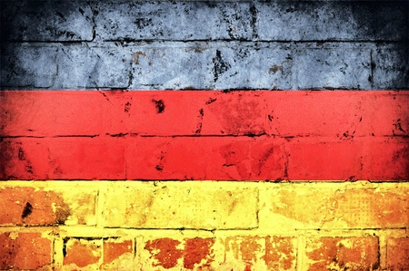 The official German flag on old brick wall Stock Photo - 21647973