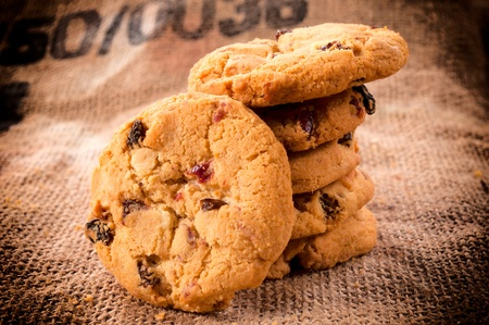 loe: Homemade cranberry cookies with white chocolate