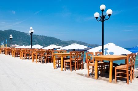 Restaurant next to the beach photo