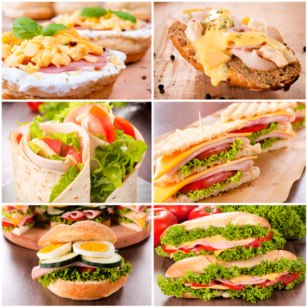 Variation of the sandwiches  photo