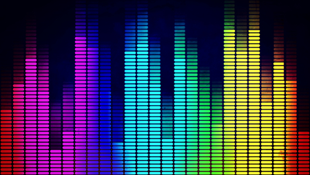 Graphics of music equalizer on black background Stock Photo - 23322698