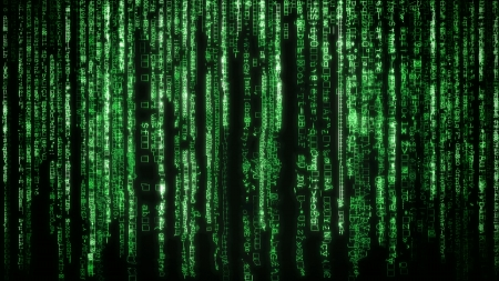 Matrix with the green symbols Stock Photo - 23641839