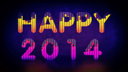 Happy New Year background with music equalizer photo