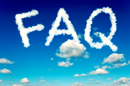Faq word writen on the dark blue sky  photo