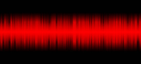 Red sound on black background Stock Photo - 25105473