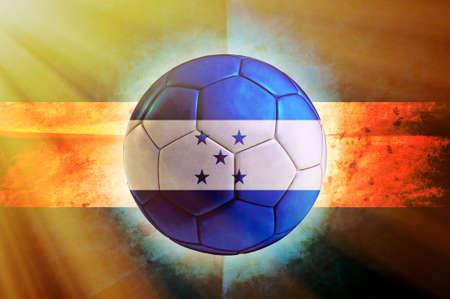 Soccer ball with Honduras flag as the background photo