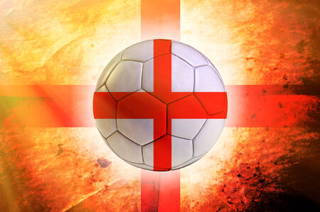 Soccer ball with England flag as the background photo