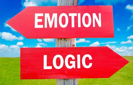 Emotion and logic way choice showing strategy change or dilemmas