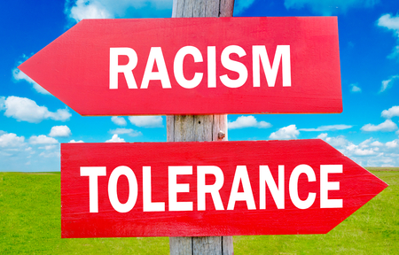 Racism and tolerance way choice showing strategy change or dilemmas