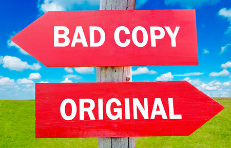 plagiarism: Bad copy or original way choice showing strategy change or dilemmas