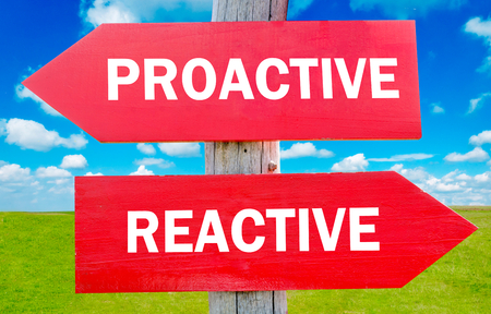 reactive: Proactive and reactive way choice showing strategy change or dilemmas