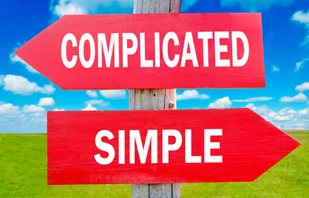 complicated: Complicated and simple choice showing strategy change or dilemmas