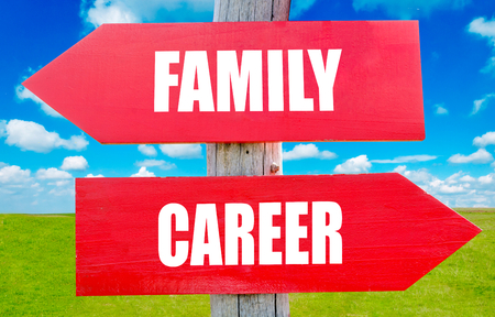 work life balance: Famili and career choice showing strategy change or dilemmas