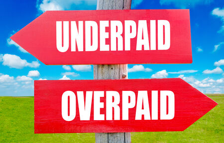 underpaid: Underpaid and overpaid choice showing strategy change or dilemmas