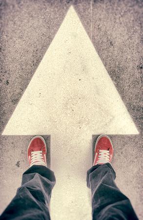 上からブランドの新しい赤い靴 写真素材
