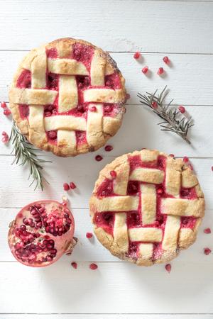 sweet tart: Sweet tart cake stuffed with pomegranate jam