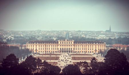 nbrunn: View on Gloriette in Schonbrunn Palace, Vienna, Austria