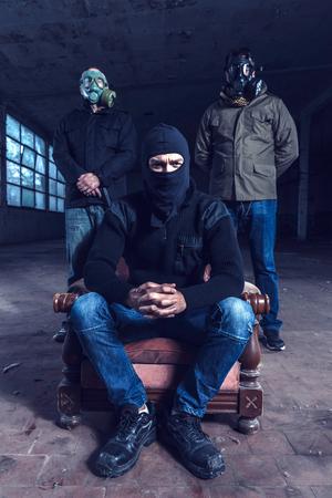criminal: Boss and bodyguards,criminal concept,selective focus