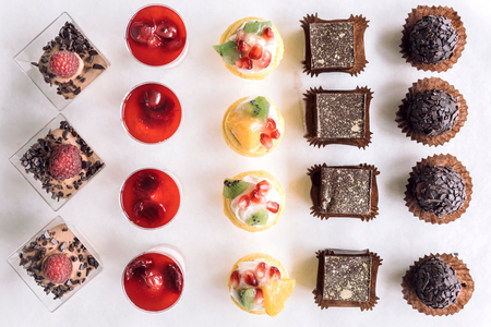 chocolate cakes: Assorted of mini chocolate cakes for holiday