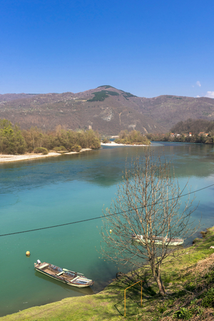 mountin: Beautiful landscape with river and mountin