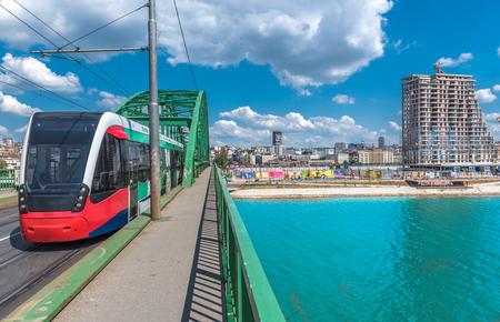 Urban city view of Belgrade city the capital of Serbia
