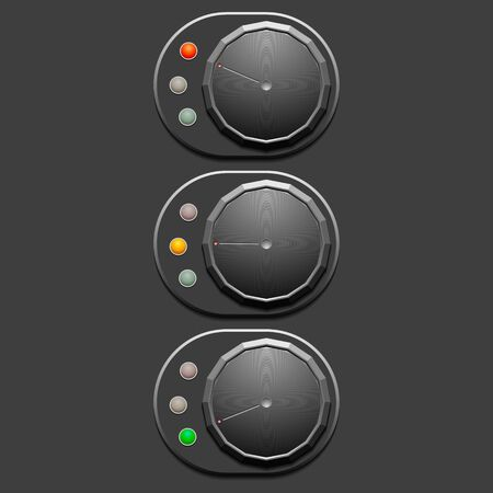 switches: Grey switches on grey background