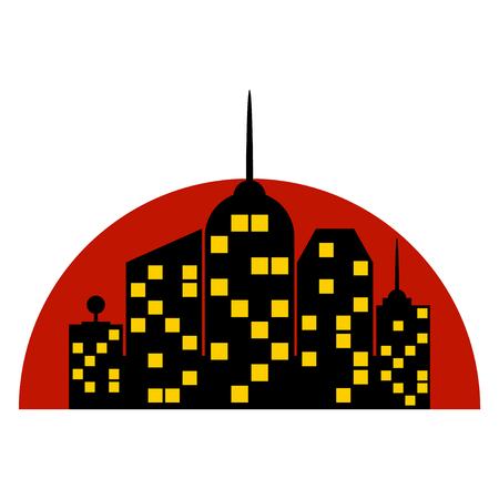 city background: city isolated on white background