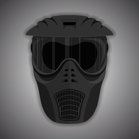 black mask: Black mask for paintball