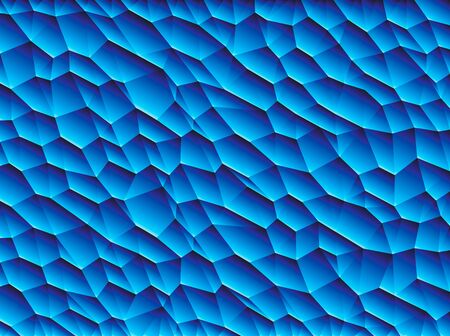 two dimensional: Vector low poly blue background
