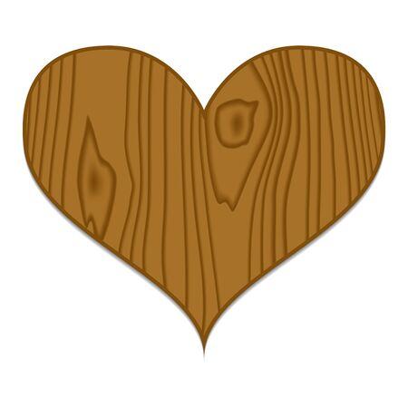 Vector bruine houten hart