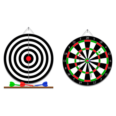 sides: Vector two sides of darts game