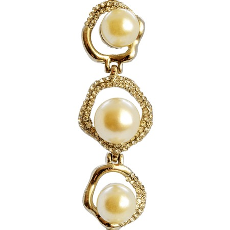 Photo of jewelry pearl bracelet isolated on background Stock Photo